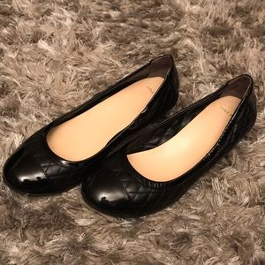Cole Haan wedges 7.5, black quilted leather